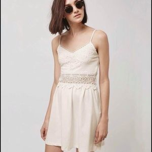 TopShop dress with lace detail